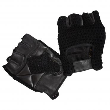 Bronx Black Mesh Weight Lifting Glove