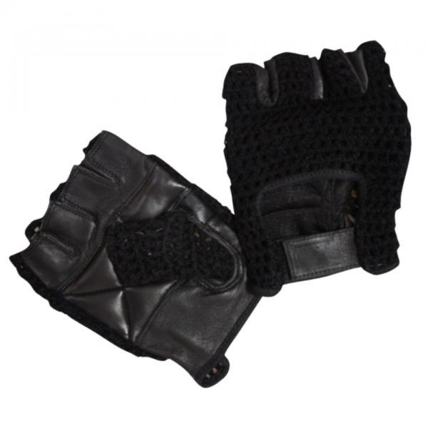 Bronx Black Mesh Weight Lifting Glove