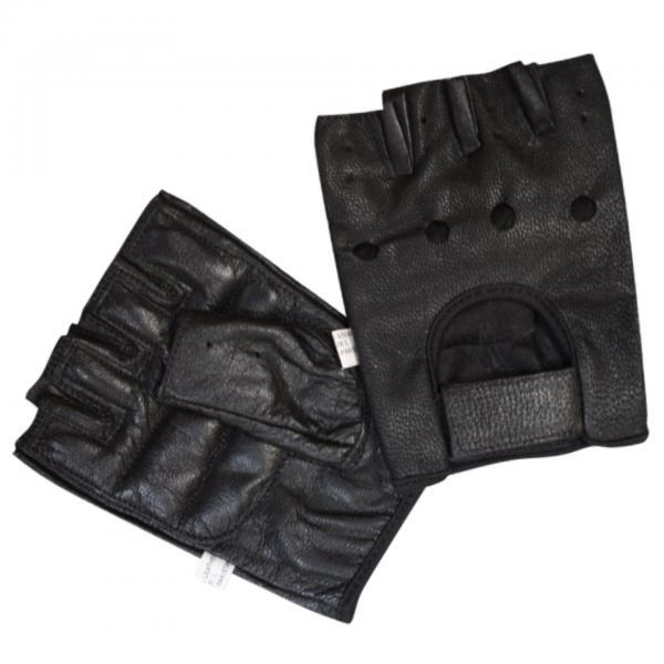 Bronx Black Leather Weight Lifting Glove